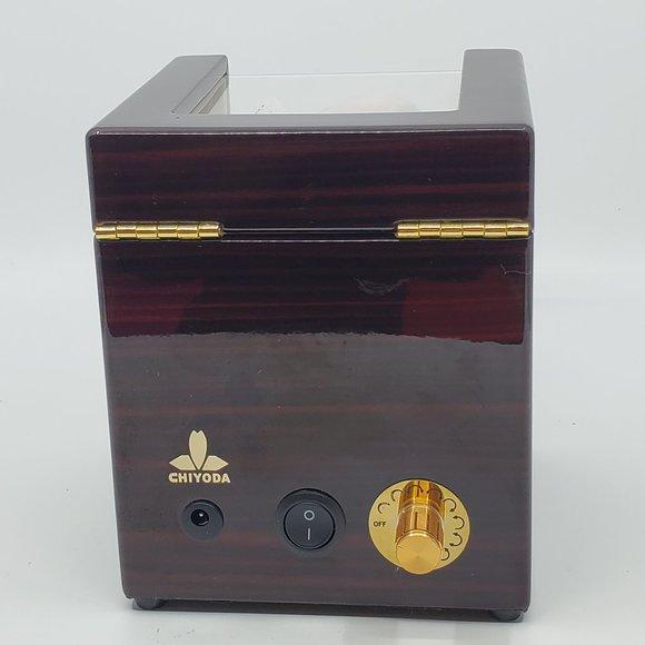Chiyoda Automatic Single Watch Winder wood box
